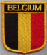 Belgium Embroidered Flag Patch, style 07.